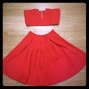 Sabo Skirt Red Set